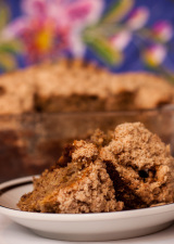 Banana Stresel Coffee Cake Slice