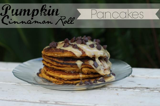 Pumpkin Cinnamon Roll Pancakes