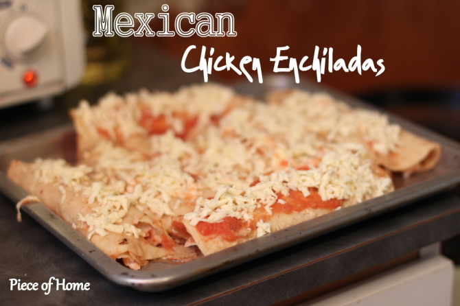 Chicken Enchiladas with cheese from Mexico