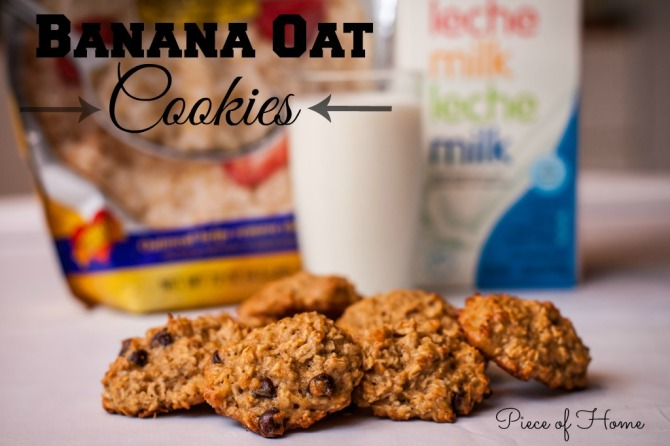 Banana Oats Cookies with text