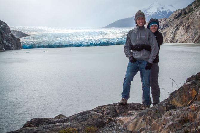Hugs at Glacier Grey