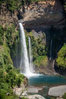Velo De La Novia Waterfall at Siete Tazas Chile