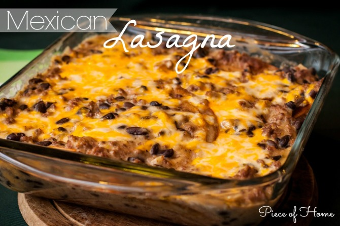 Mexican Lasagna with Cheese