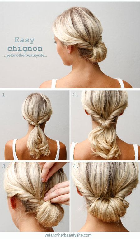 Easy Chignon Hairdo