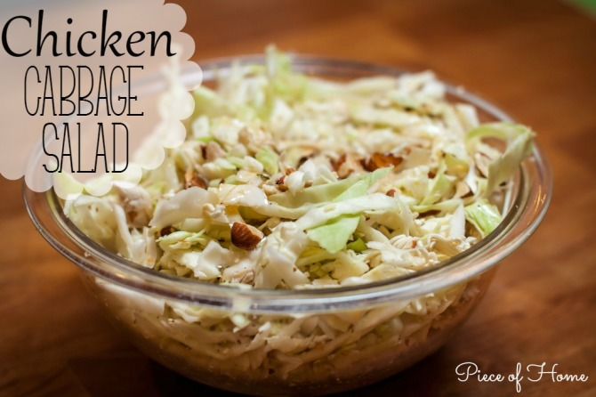 Chicken Cabbage Salad Piece of Home