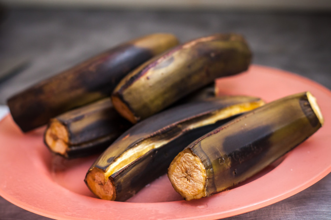 Microwaved Plantains