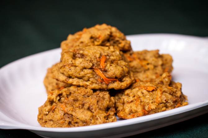 Oatmeal Carrot Cookie - Stacked