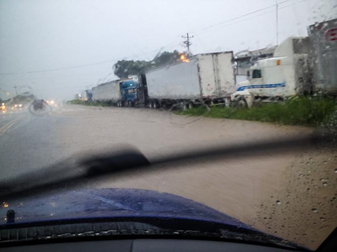 Raining on the Freeway
