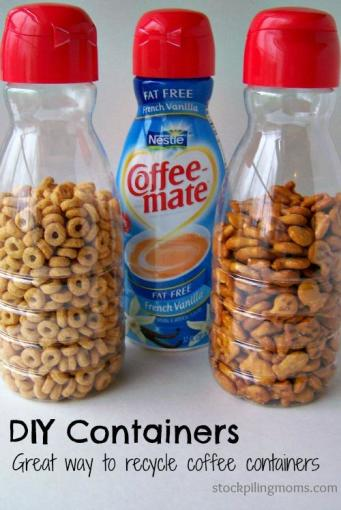Recycle-offee-creamer-containers