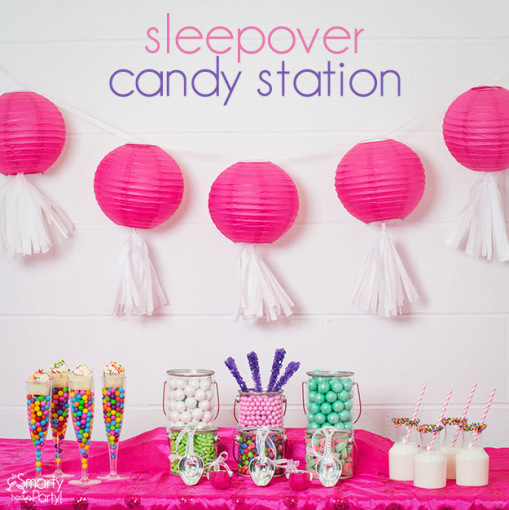 sleep over candy station