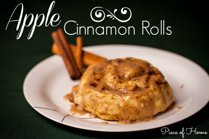 Apple Cinnamon Roll  Piece of Home