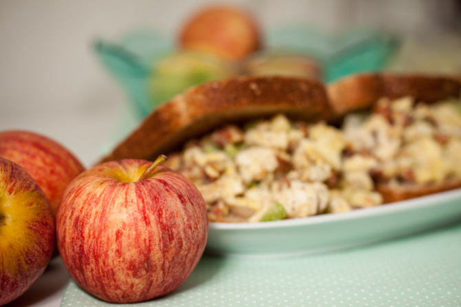 Chicken-Apple-Salad-with-apple