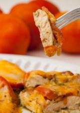 Chicken-Pesto-bite-on-fork