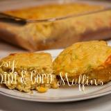 Cheesy Zucchini and Corn Muffins