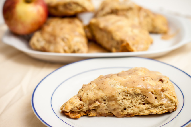 Apple-Scone-with Glaze