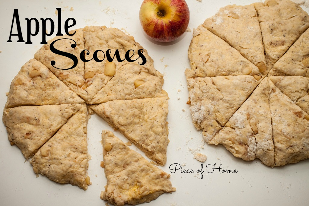 Apple-Scones-dough-slices Piece of Home