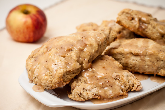 Apple-Scones-with-glaze