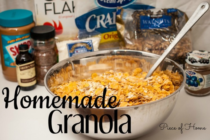 Granola - Oats and Cornflakes Piece of Home