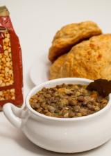 Lentil Soup with Bread