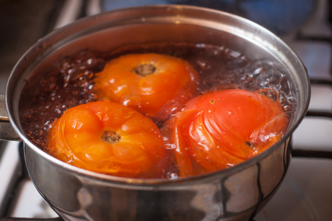 Tomatoes Boiling Salsa Picante