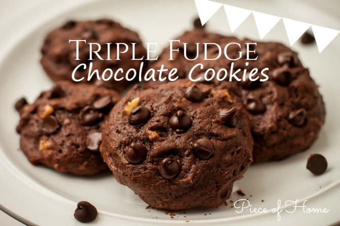 Triple Chocolate Chip Cookies Piece of Home