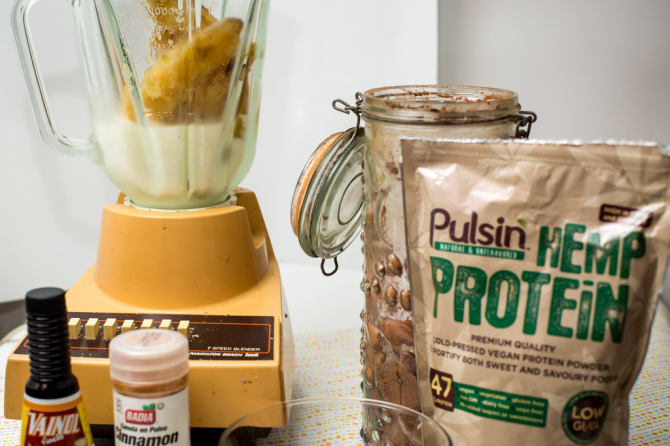 Chocolate Banana Protein Shake Ingredients