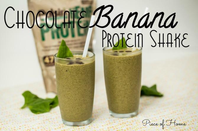 Chocolate Banana Protein Shake Piece of Home