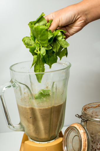 Chocolate Banana Protein Shake Spinach
