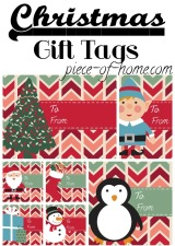 Christmas Gift Tags Printable Collage
