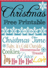 Christmas Printable Collage