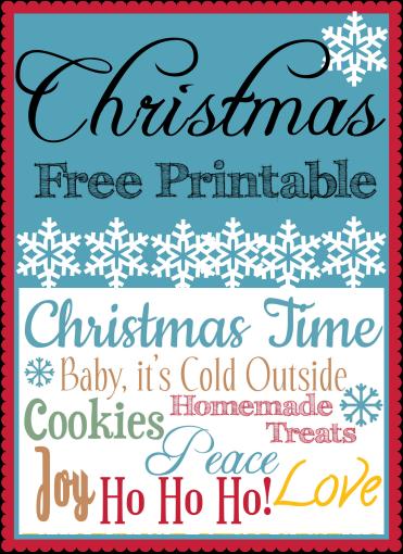 Christmas Printable Collage