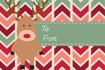 Clip Reindeer Tag Green