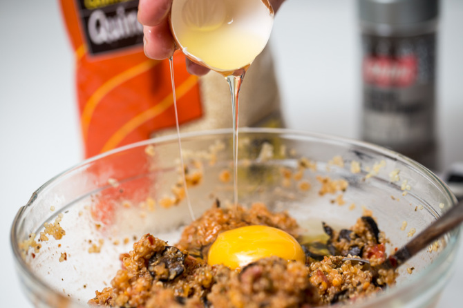 Pizza Quinoa Bites  Add Egg