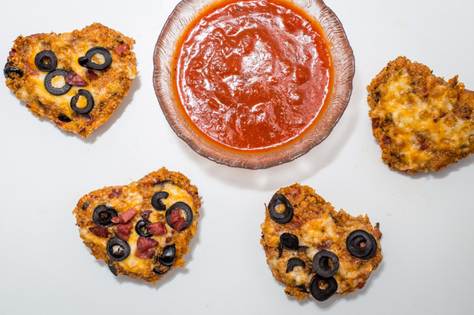 Pizza Quinoa Bites  Hearts