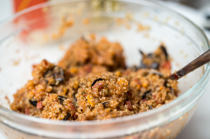 Pizza Quinoa Bites   Mixture