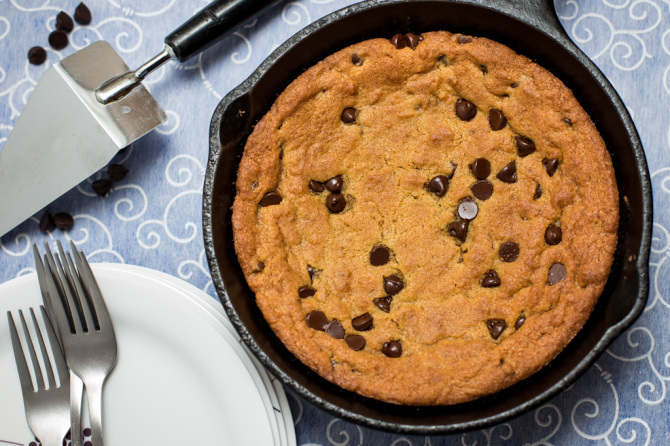 Skillet Cookies Chocolate Chip-