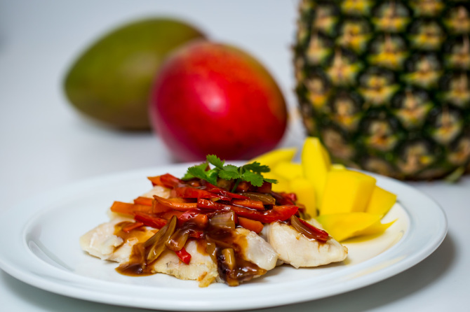 Sweet & Sour Tilapia with Fruit