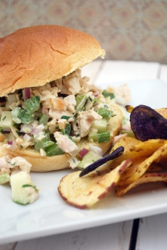 Apple Almond Chicken Salad