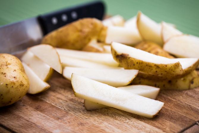 Potato Wedges - Chopped