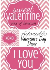 Valenines Day Decor Collage