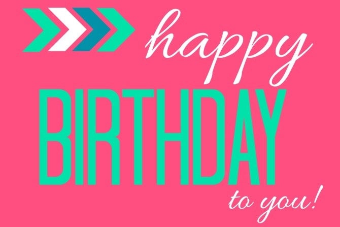 Happy Birthday Gift Tag or Printable Pink