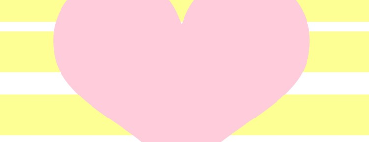 Pink Heart with Stripes