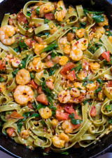 Shrimp Spinach Pasta