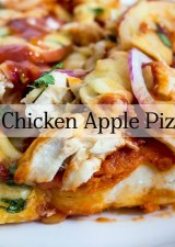 Chicken Apple BBQ Pizza FI
