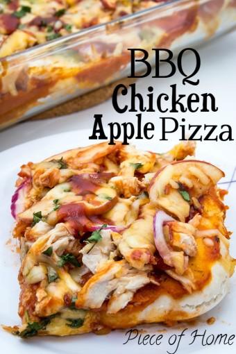 Chicken Apple BBQ Pizza Piece of Home