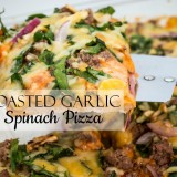 Roasted Garlic Spinach Pizza